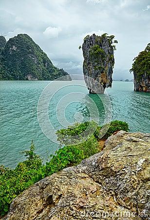 Exotic island near Phuket. Thailand.