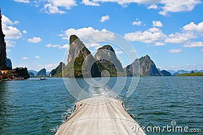 Exotic limestone islands in Phang Nga bay