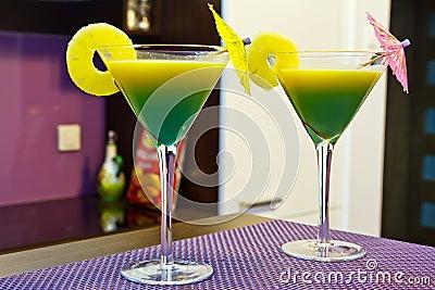 Exotic martini cocktails