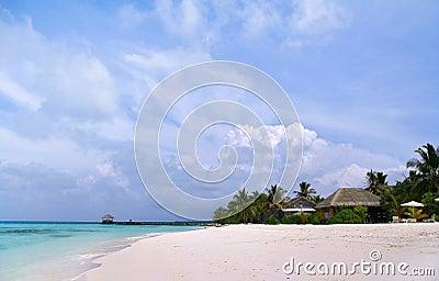 Exotic resort in Maldives
