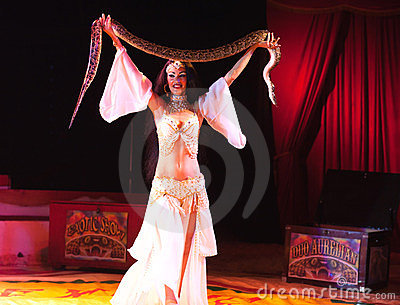 Exotic snake show Editorial Photo