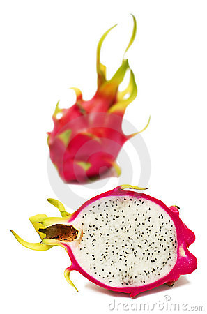 Exotic Thai Fruit. Dragon fruit - Geow Mangon.