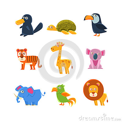 Free Exotic Toy Fauna Set Stock Photo - 78321110