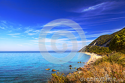 Exotic tropical beach Agios Nikitasi