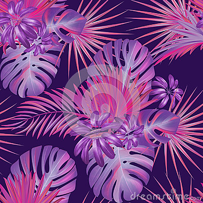 Free Exotic Tropical Vrctor Background With Hawaiian Plants. Stock Image - 95715751