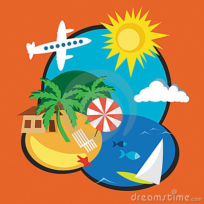 Exotic Vacation on Distant Tropical Island