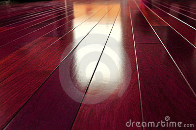 Exotic wooden floor