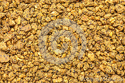 Expanded granulated cattle feed