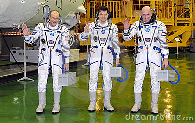 Expedition 31 Crewmembers Editorial Stock Photo