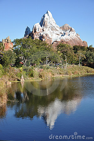 Expedition Everest in Disney Animal Kingdom Editorial Image