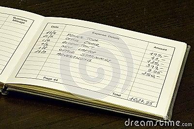Expense Records Book