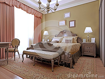 expensive bedroom art deco style stock photo image 59222284. Black Bedroom Furniture Sets. Home Design Ideas