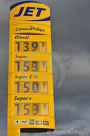 Expensive Gas Editorial Photography
