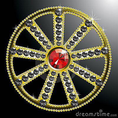 Expensive gold diamond wheel