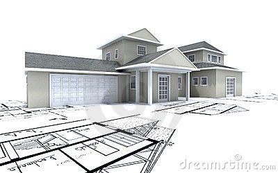 Expensive house with garage on