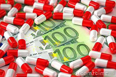 Expensive medication concept
