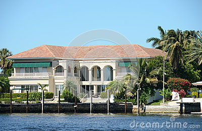 Expensive waterfront mansion