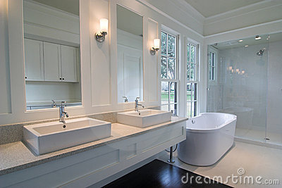 Expensive white bathroom