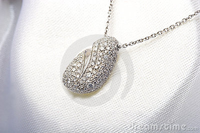 Expensive white gold pave diamond pendant necklace