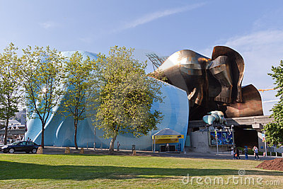 Experience Music Project Seattle Editorial Stock Image