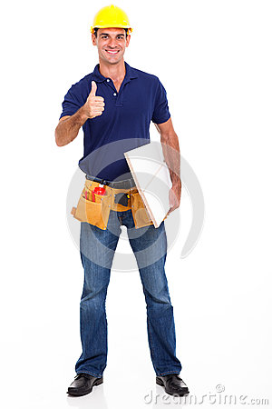 Carpenter thumb up