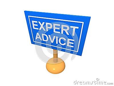 Expert advice sign