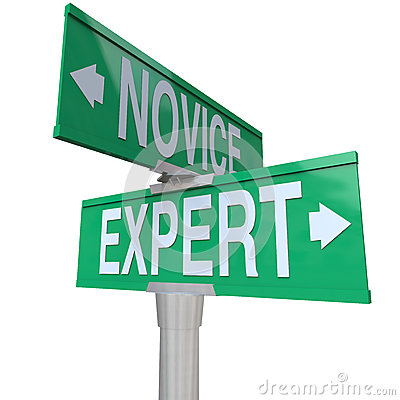 Expert Vs Novice Two Way Road Sign Skills Experience Expertise