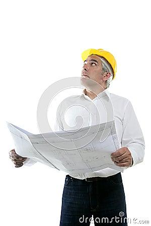 Expertise architect senior plan looking up