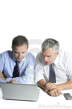 Expertise businessman team working computer