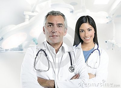Expertise doctor beautiful nurse hospital