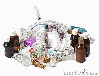 Expired Medicine Editorial Stock Photo