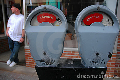 Expired Meter and Man