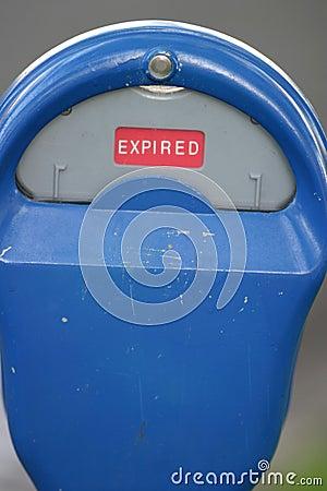 Expired Street Parking Meter