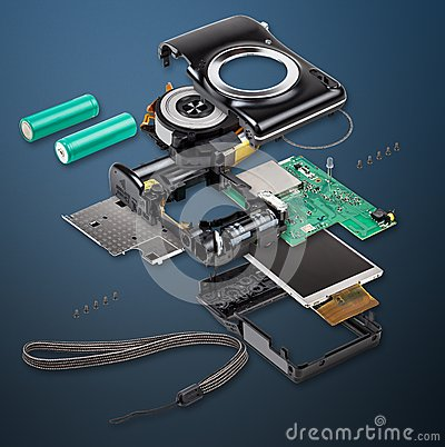 Free Explode View Of Digital Camera Stock Images - 33214054