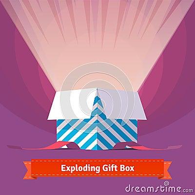 Free Exploding Celebration Gift Box Royalty Free Stock Photo - 58866705