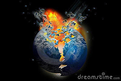 Exploding death planet Earth