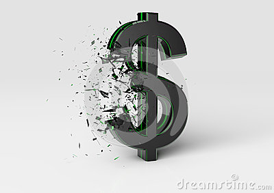 Exploding Dollar Sign