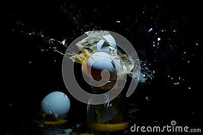 An exploding egg