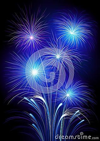 Exploding fireworks