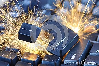 Exploding keyboard