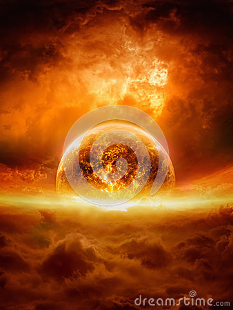 Free Exploding Planet Royalty Free Stock Image - 35856806