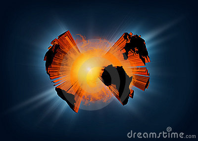 Exploding Planet Earth