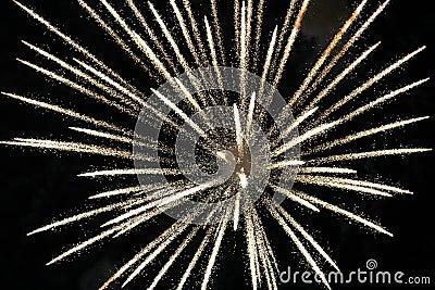 Exploding White light fire firework