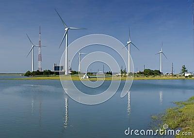 Exploração agrícola de vento