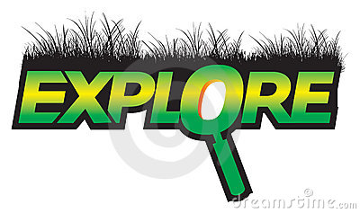 Explore graphic text green logo