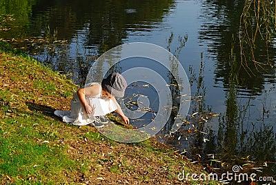 Exploring nature n white skirt