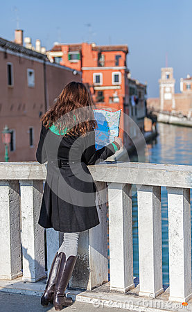 Exploring Venice Editorial Stock Photo