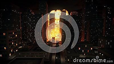 Explosão nuclear na cidade