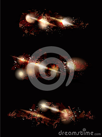 Free Explosion Effect Design Collection Royalty Free Stock Photos - 41106838