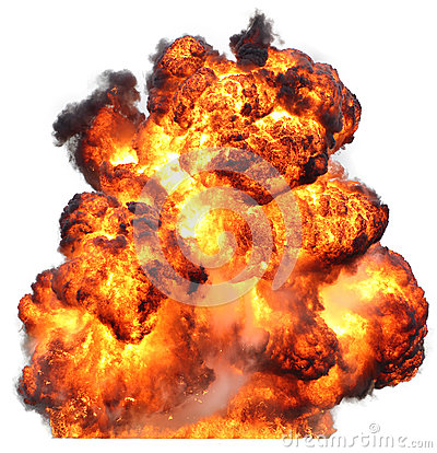 Free Explosion Fireball Isolated Fire Stock Image - 41507521